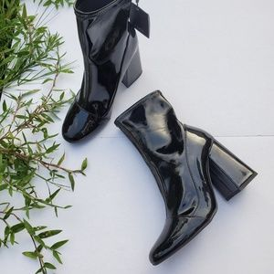 NWT Zara Size 6 Patent Leather Ankle Boots